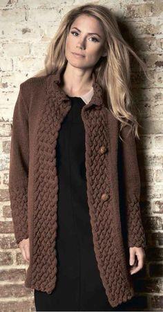 Cardigan with wide straps / Global Fashion Cardigan Sweaters For Women, Long Sweaters, Knitting Club, Knit Cardigan Pattern, Creative Knitting, Knitwear Fashion, Knit Jacket, Knitting Designs, Knit Patterns