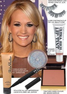 Copy Carrie Underwoods Makeup From The CMT Artists Of The Year Party #Artists Concert Makeup artists Carrie CMT Copy makeup Party Underwoods Year Carrie Underwood No Makeup, Kiss Makeup, Eye Makeup, Beauty Make Up, Face Beauty, Beauty Skin, Concert Makeup, Skin Secrets, Skin Tips