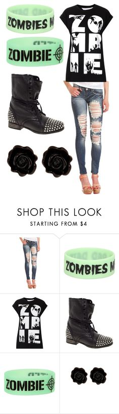 """Dead walker Texas ranger - sleeping with sirens"" by morganamerica ❤ liked on Polyvore featuring Charlotte Russe, Tee and Cake, Steve Madden and Fornash"