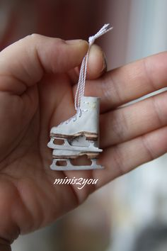 Miniatures. Ice skates.