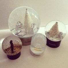 CHANEL / KARL LAGERFELD Snow Globe Collection!!! rare and limited VIP gift, must have for CHANEL lovers! get one for yourself at www.sweeeties.com