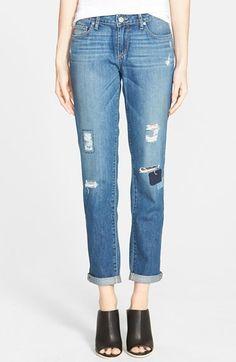 PAIGE Denim / Jimmy Jimmy Skinny in Dazeley Destructed Denim Jeans, Mom Jeans, Skinny Jeans, Jimmy Jimmy, Latest Styles, Paige Denim, Trousers, Pants, Get Dressed