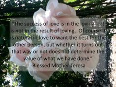 Mother Teresa on Love