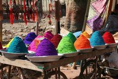 Rangoli color powder from India