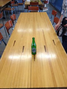 Recycled bowling alley table