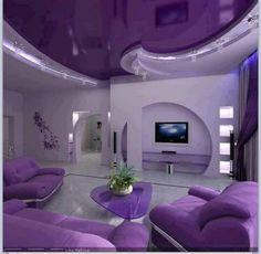 purple living room decorations with modern purple furniture, purple . Purple Home, My New Room, My Room, Room Set, Salons Violet, Purple Furniture, Luxury Furniture, Handmade Home Decor, Decoration Home