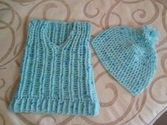 Crochet baby vest and hat 3 months
