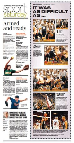 Sports, June 8, 2013. Awesome ideas for modular design. side bar alternative coverage short reads yearbook