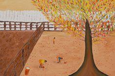 http://www.kesiartgallery.com/ #tree #yellow #painting #art #gallery #farm