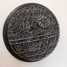 A personal favorite from my Etsy shop https://www.etsy.com/listing/487217479/star-wars-death-star-string-art