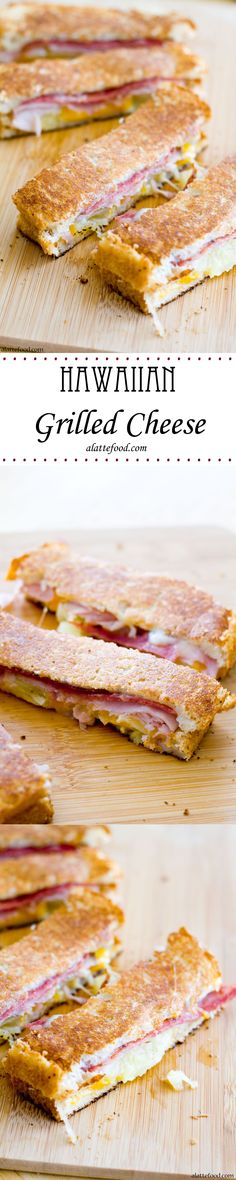 Hawaiian Grilled Cheese | A Latte Food