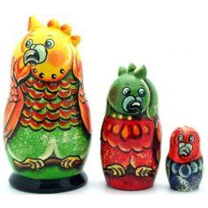Speaking Parrot Nesting Dolls