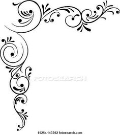 Beautiful borders for chart paper google search beautiful clip art of element for design corner flower vector 1525r 143392 search thecheapjerseys Gallery