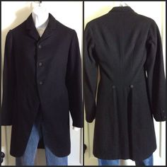 A personal favorite from my Etsy shop https://www.etsy.com/listing/204705931/antique-1903-early-1900s-black-wool