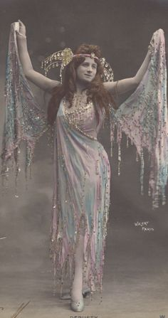 Circa 1900 French Dancer in Costume DeBusty by Walery. via Etsy.