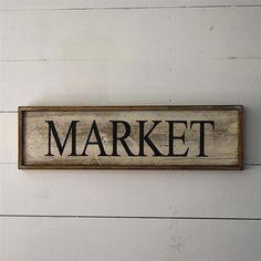 "Wooden Farmhouse 24"" Sign - Market"