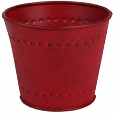Robert Allen Marquis Metal Planter, Red, - Quantity As Shown Lawn And Garden, Garden Pots, Home And Garden, Decorative Planters, Robert Allen, Red Color, Flower Pots, Planter Pots, Marquis