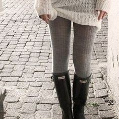 Cable knit leggings...FASHION BY MISS DREAD HYNES: Leggings Outfits