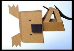 How adorable is this cardboard box koala? There's a bunch of more adorable (but not necessarily Australian) cardboard box critters and people on here as well. (From Amusing Planet. Cardboard Animals, Cardboard Paper, Cardboard Crafts, Paper Toys, Paper Crafts, Cardboard Playhouse, Cardboard Furniture, Wall E, Diy Karton