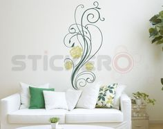 Sticker decorativ Floare Delicata