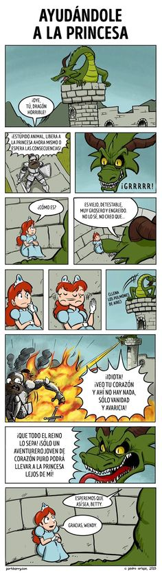 Now it all makes sense! Saving the Princess from an Evil Dragon [COmic] – Geeks … Now it all makes sense! Saving the Princess from an Evil Dragon [COmic] – Geeks are Sexy Technology NewsGeeks are Sexy Technology News Cute Comics, Funny Comics, Funny Cartoons, Comics Girls, Disney Cartoons, Dragon Comic, Cartoon Dragon, Funny Dragon, Writing Prompts