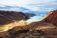 vue sur la vallée, paysage Etah, nord du Groenland.