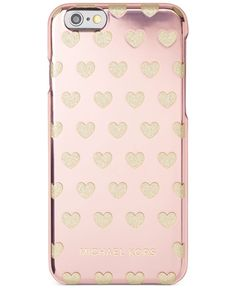 Show some love for your phone with this charmingly stylish iPhone 6 case from Michael Michael Kors, featuring a glam metallic heart design for a totally chic look. | Polycarbonate plastic/zinc | Impor