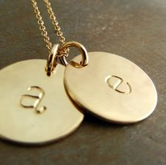 This double gold initial necklace features two GF gold fill) half-inch lowercase letter charms on a gold fill chain. Each letter is Initial Necklace Gold, Initial Jewelry, Letter Necklace, Evil Eye Necklace, Letter Charms, Gold Letters, Gold Filled Jewelry, 14 Karat Gold, Cute Jewelry