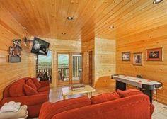 A game room at the Kodiak Mountain Lodge in Gatlinburg.
