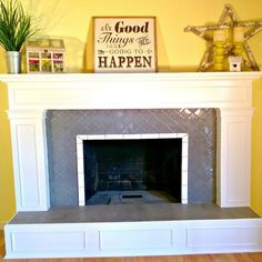 """Life is funny, you think you have a home that you wouldn't change a thing about it and then people around you, open your eyes and you find out that you are just settling for average when things could be so much better! I love my little house and it's been good to us. … Continue reading """"Fireplace Mantel Love!"""""""