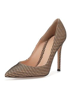Marilyn+Mesh-Print+105mm+Pump,+Nude+by+Gianvito+Rossi+at+Bergdorf+Goodman.