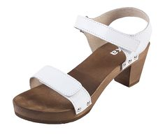 Dreváky sandále OD15 - Biele - Dámske sandále - Dreváky, drevaky-buxa.sk, drevená obuv