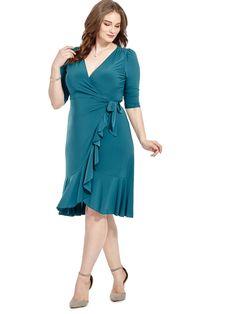 Kiyonna | Whimsy Dress In Evergreen | Gwynnie Bee