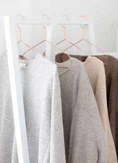 Soft knit sweaters in dreamy neutrals.