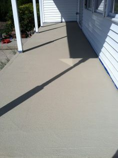 Resurfacing Concrete: Porch Makeover Used Rustoleum Restore But Bottom Line  Says Some Problem With Peeling