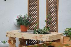 Fregadero jardinera de palé