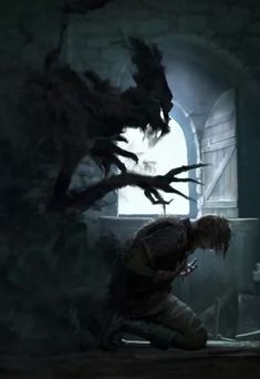 Animation from Gwent PC game — The gods& speak to me… I hear them whisper from the shadows… Dark Fantasy Art, Art Sombre, Shadow Powers, Shadow Monster, Arte Alien, Vampire Masquerade, Adventure Aesthetic, Dark Artwork, Cool Monsters