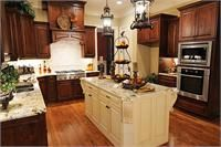 Kitchen with Wood Floor and Cabinets