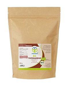 Manako prebiotic Bio Topinambur Pulver Vorratsbeutel, 1er Pack (1 x 500 g) - Bio