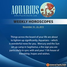 #Aquarius, Find out what's in store with your relationships, career, money, and love this week. Read your free #WeeklyHoroscopes by Astrogirl!