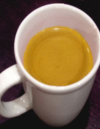 Golden Milk  - an ayurvedic tonic of milk, turmeric, almond oil, and honey. Great for skin, joints and female reproductive system.
