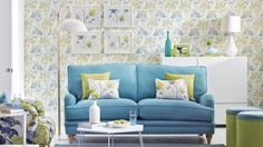 Add a shot of spring colour with zingy greens and bright sky blues.