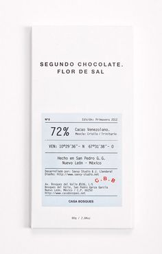 Clinical chocolate packaging for Casa Bosque chocolates, by Savvy Studio. Cool Packaging, Print Packaging, Packaging Design, Branding Design, Coffee Packaging, Bottle Packaging, Packaging Stickers, Collateral Design, Packaging Ideas