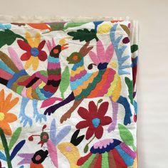 Mexican Otomi Tablecloth, Bedspread or Tenango
