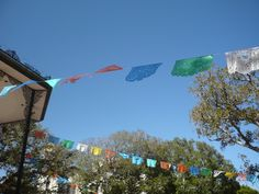 downtown Los Angeles, Olvera Street. Colorful and moving flags. #colorfulflags. #colors, #flags.