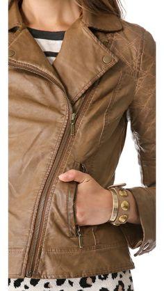 BB Dakota Johs Faux Leather Moto Jacket