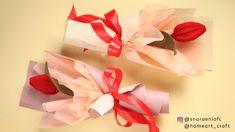 Single Tulip Bouquet - Bouquet Wrap Technique Felt Flower Bouquet by S Nuraeni Single Flower Bouquet, Felt Flower Bouquet, Tulip Bouquet, Bouquet Wrap, Felt Flowers, Tulips Flowers, Diy Flowers, Felt Diy, Felt Crafts