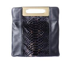 Francoise Elizee The Sophisticated , Crocodile, Leather & Python Black