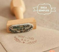 DIY invitations envelops with stamps