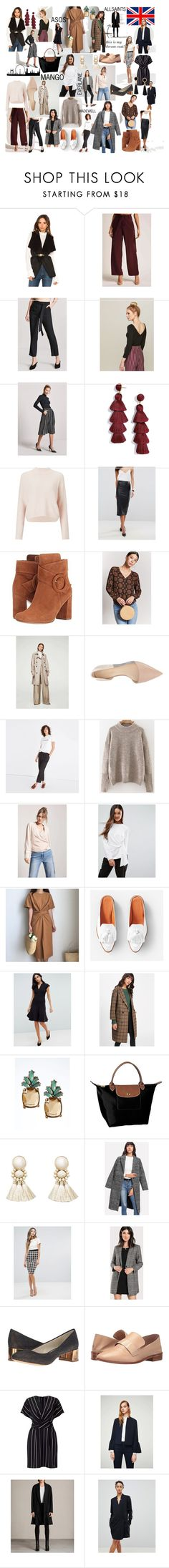 """Becka's London work edit leftovers"" by charlotteanndove on Polyvore featuring cupcakes and cashmere, Forever 21, Love 21, BaubleBar, Miss Selfridge, ASOS, MANGO, Nine West, Madewell and Y.A.S"